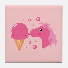 Ice Cream Pony Tile Coaster