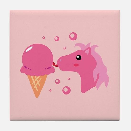 Ice Cream Pony Tile Coaster