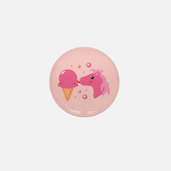 Ice Cream Pony Mini Button