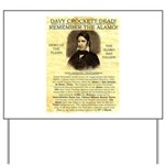 Davy Crockett Yard Sign