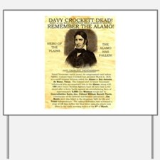 Davy Crockett Yard Sign