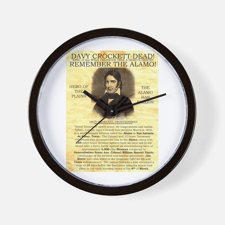 Davy Crockett Wall Clock