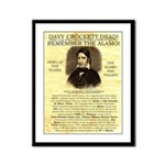 Davy Crockett Framed Panel Print
