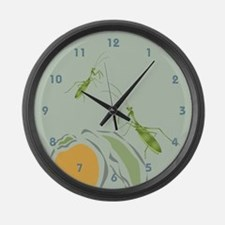 Praying Mantis Persimmon Giant Clock
