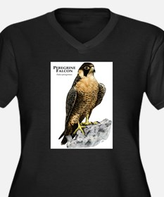 Peregrine Falcon Women's Plus Size V-Neck Dark T-S