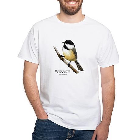 Black-Capped Chickadee White T-Shirt