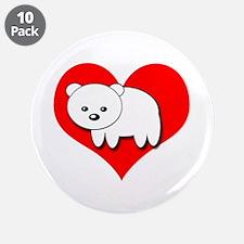 "Polar Bear 3.5"" Button (10 pack)"