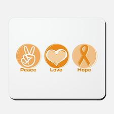 Peace Love Orange Hope Mousepad