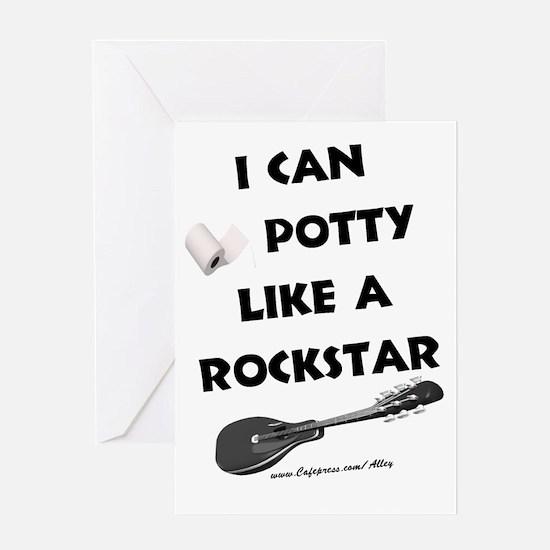 Potty Rockstar Greeting Card