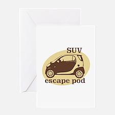 SUV Escape Pod Greeting Card