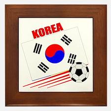 Korea Soccer Team Framed Tile