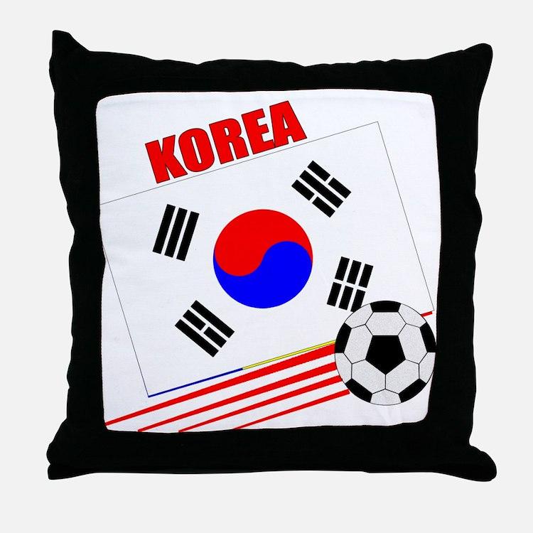 Korea Soccer Team Throw Pillow