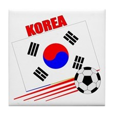 Korea Soccer Team Tile Coaster