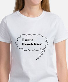 Baby French Fry Thoughts Women's T-Shirt