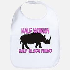 Half Woman Half Black Rhino Bib