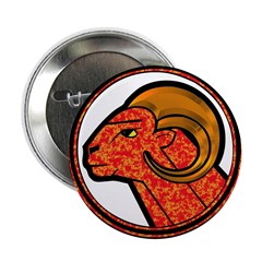 Aries Astrology Sign Button