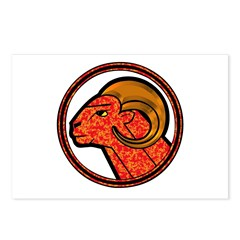 Aries Astrology Sign Postcards (Package of 8)