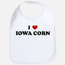 I Love IOWA CORN Bib