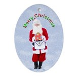 Masonic Santa Merry Christmas Keepsake (Oval)
