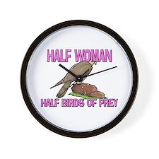 Half Woman Half Birds Of Prey Wall Clock