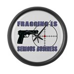 Serious Fragging Large Wall Clock