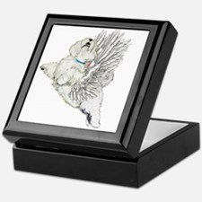 Guardian Angel Westie Keepsake Box