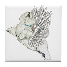 Guardian Angel Westie Tile Coaster