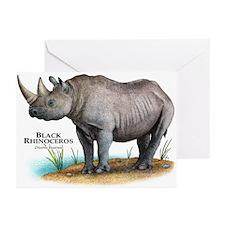 Black Rhinoceros Greeting Cards (Pk of 20)