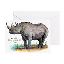 Black Rhinoceros Greeting Card