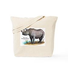 Black Rhinoceros Tote Bag