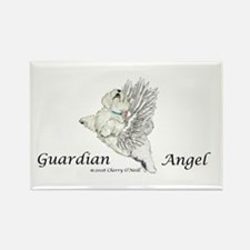 Guardian Angel Westie Rectangle Magnet