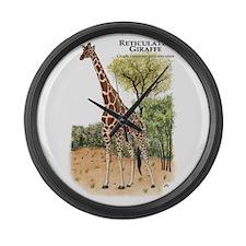Reticulated Giraffe Giant Clock