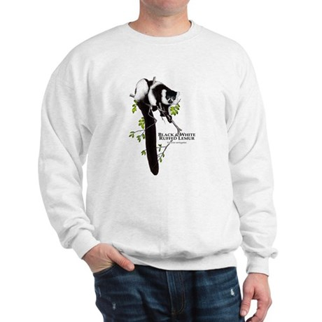 Black & White Ruffed Lemur Sweatshirt