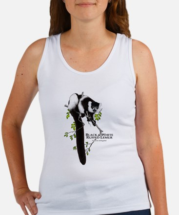 Black & White Ruffed Lemur Women's Tank Top
