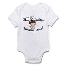 Infant Bodysuit- This lil cowboys turnin 1