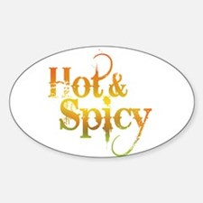 Hot and Spicy Oval Decal