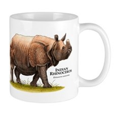 Indian Rhinoceros Small Mug