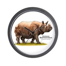 Indian Rhinoceros Wall Clock