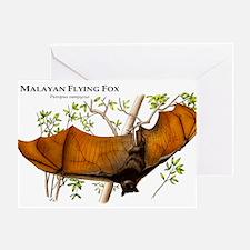 Malayan Flying Fox Greeting Card