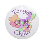 Tonggu China Map Ornament (Round)