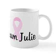 Team Julie pink ribbon Mug