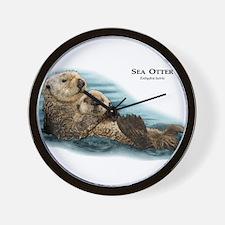 Sea Otter Wall Clock