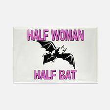 Half Woman Half Bat Rectangle Magnet