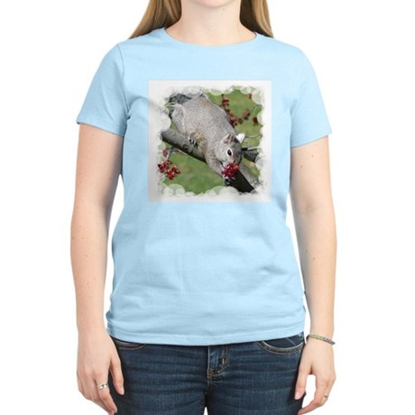 Squirrel with Roses? Women's Light T-Shirt