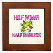 Half Woman Half Basilisk Framed Tile