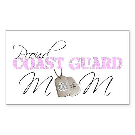 Proud Coast Guard Mom Rectangle Sticker