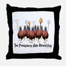 Pheasants1 Throw Pillow
