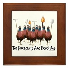 Pheasants1 Framed Tile