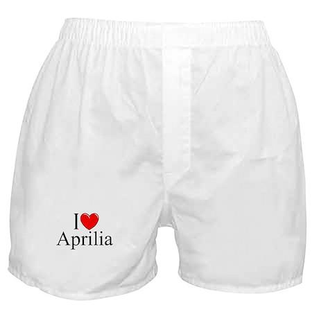 """""""I Love (Heart) Aprilia, Italy"""" Boxer Shorts"""