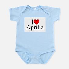 """I Love (Heart) Aprilia, Italy"" Infant Bodysuit"